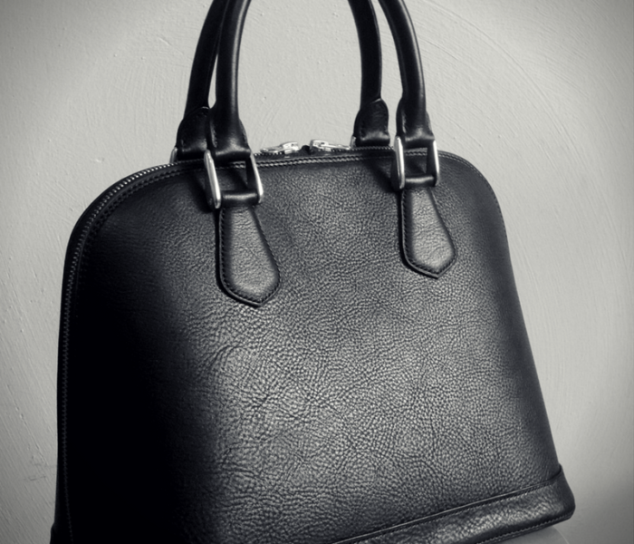 black classic alma handbag leather bag made in Italy
