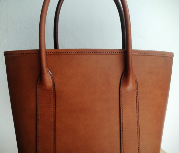 Custom made leather satchel bag made in Italy